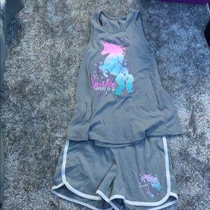 Unicorn clothes set